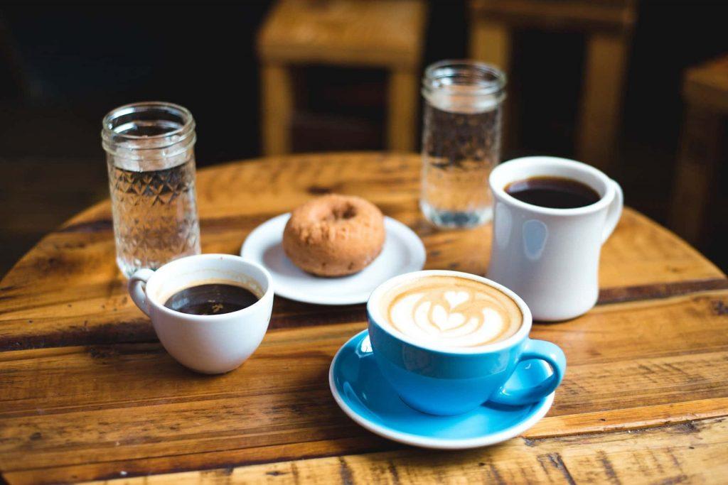 café latte en casa