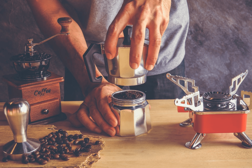 desmontando cafetera italiana
