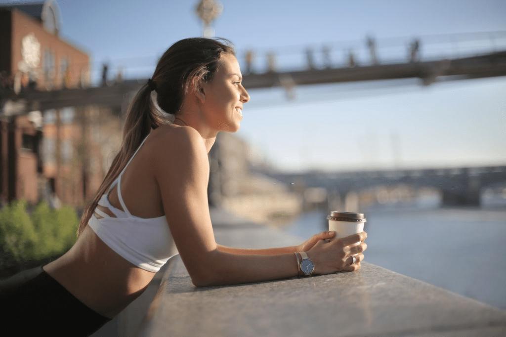 café antes de hacer ejercicio