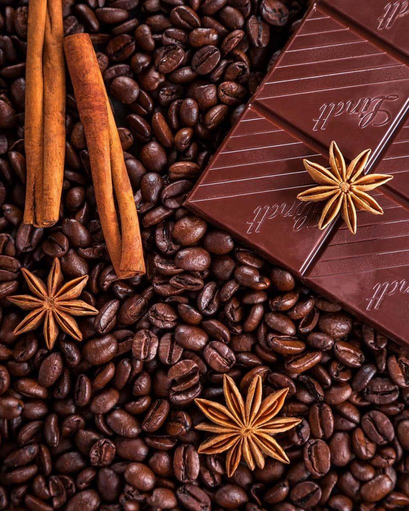 canela con café y chocolate