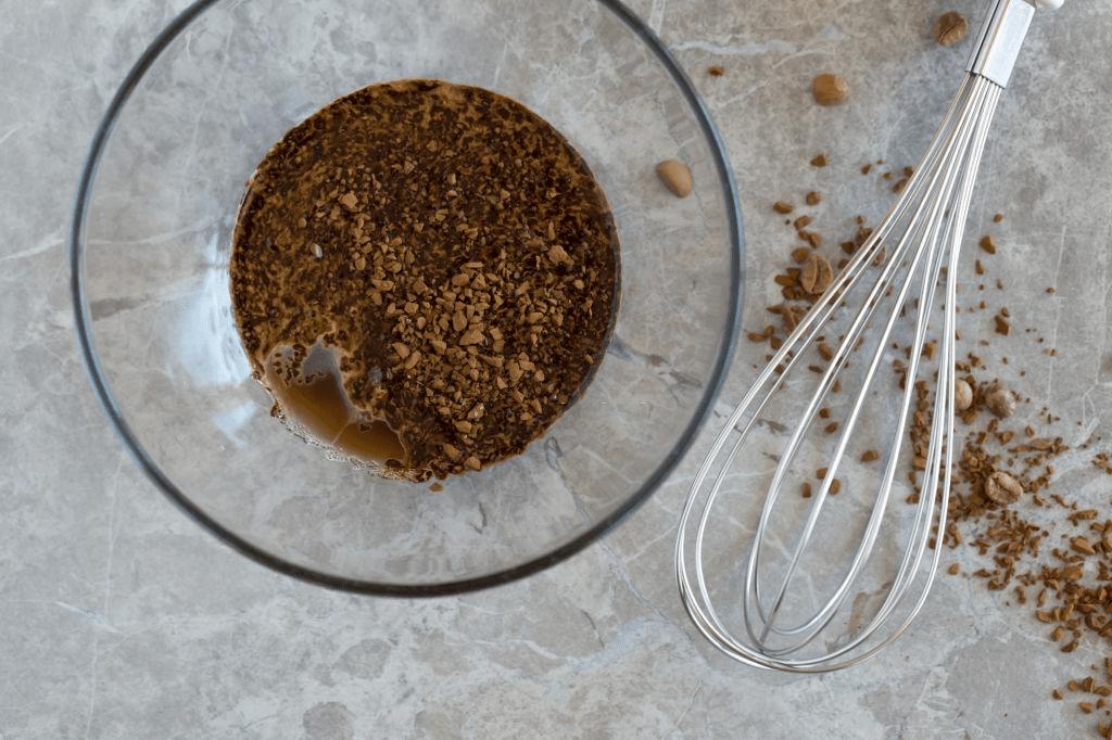preparación de crema de café