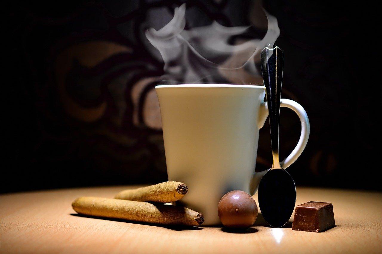 café en taza